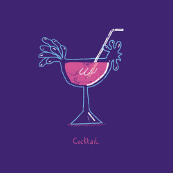 Cocktail. Part of my Quick idea project. You can vote for it @Threadless or buy it on stuff @Society6. Cheers!