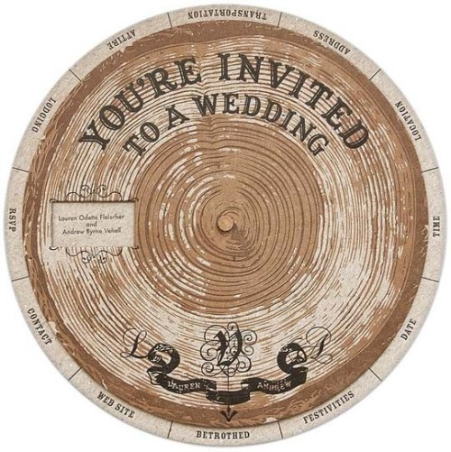 Different spin (literally) on wedding invites.