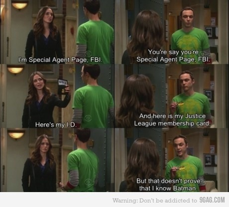 9gag:  Sheldon being Sheldon