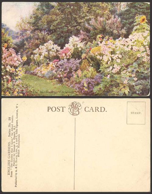 "seabois:  George Samuel Elgood. Postcard: The Herbaceous Enclosure, English Gardens, Series No. 18. From ""The Garden that I Love"" by Alfred Austin."