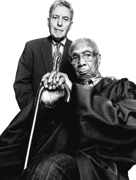 "newyorker:  Postscript: Robert L. Carter The civil-rights activist and former federal judge Robert L. Carter died  Tuesday, at the age of ninety-four. Carter, seated above with Jack  Greenberg, worked for the N.A.A.C.P. Legal Defense and Educational Fund,  and presented its case in arguments that led to the Supreme Court's  1954 decision in Brown v. Board of Education. This portrait, by Platon, was part of our project on leaders of the civil-rights movement, and was first published as part of our multimedia Portfolio ""The Promise."" Photographs from this series are currently on view at the New York Historical Society."
