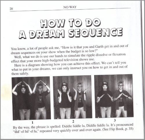 How To Do a Dream Sequence from the book, Wayne's World: Extreme Close Up