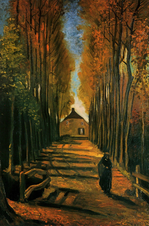 deadpaint:  Vincent van Gogh, Avenue of Poplars at Sunset