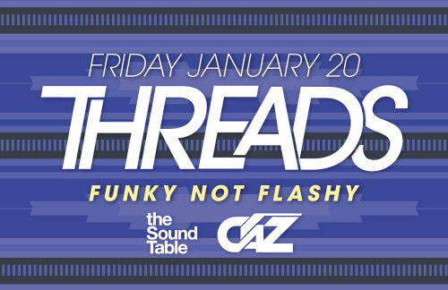 Threads is a dance party spanning a wide array of genres from funk & soul to house & disco as well as afro-latin rhythms from all around the world. Threads is funky not flashy, so come ready to dance. All night tag team set provided by CaZ. $5 all night | 21+ $3 Dale's Pale Ale's until 12Cash Bar!:: Enter at 485 Edgewood :: RSVP