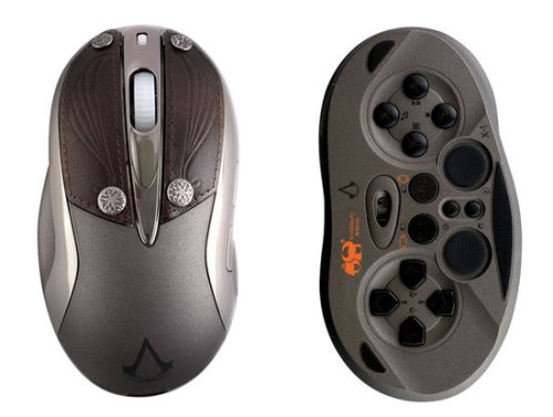"Mouse With a Hidden Gamepad Underneath The ""Shogun Bros. Wireless Gamepad Mouse - Chameleon X-1"" looks pretty sweet. Looks like a nice way to reduce clutter on your desktop or in your laptop bag. $59.99"