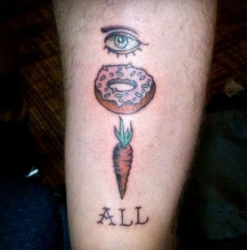 collegehumor:  Hidden Message Tattoo Eye dessert vegetable all?