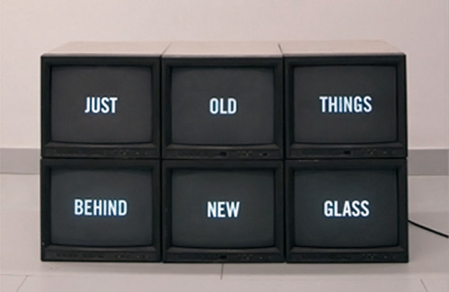 """just old things behind new glass"" by andy callahan"