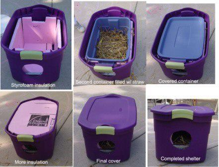 trashanimal:  Simple cat shelters. It is getting cold and there are way too many strays that freeze to death every winter in Richmond.