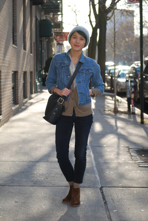 Casual chic. (via Fashionista)