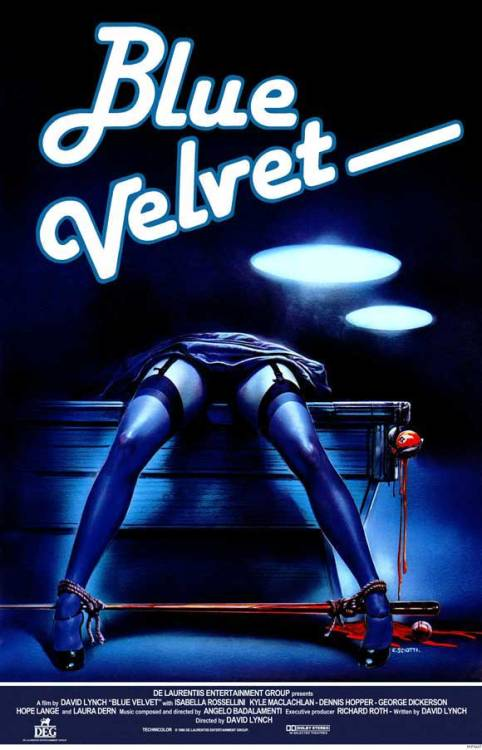 For some reason, I had never seen this poster for Blue Velvet before. But I like it.