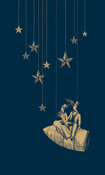 observing stars (artist uncredited)
