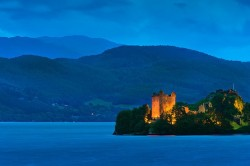 Urquhart Castle at the legendary Loch Ness in Central Scotland