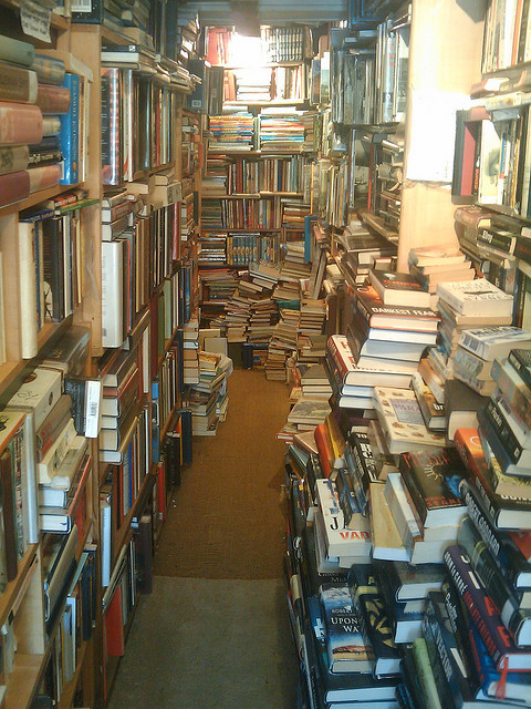 bookmania:  Barely Read Books are dealers of rare and second hand books. Located at 18 The Green in the Kent town of Westerham, United Kingdom. (photo by Matt Wakeman)