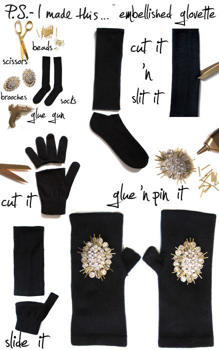 DIY: Alexander McQueen Gloves (F/W 2011). Follow these instructions!