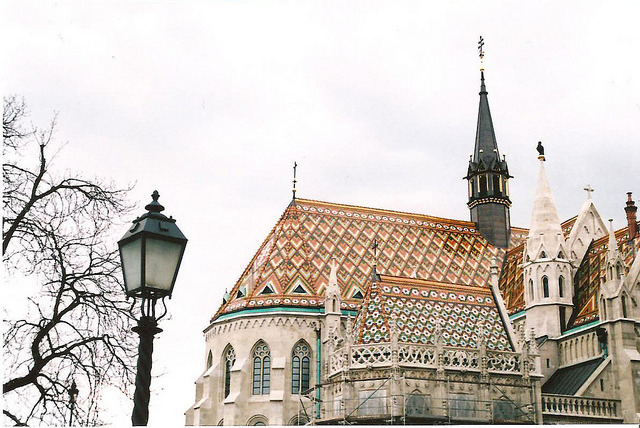 | ♕ |  Bohemian church roofs - Budapest, Hungary  | by © Claire