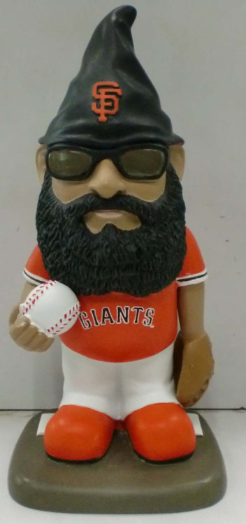 findtheswagger:  Brian Wilson gnome, anyone? (via @SFGiants)  GNOME + Brian Wilson, who is not my favorite Giant but still = ME LIKEY MICHAEL Just one step closer to everyone figuring out that Brian Wilson is, in fact, a muppet who just so happens to be a decent closer.