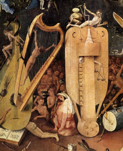 "Detail from Hieronymus Bosch's ""The Garden of Earthly Desires"" c.1500"
