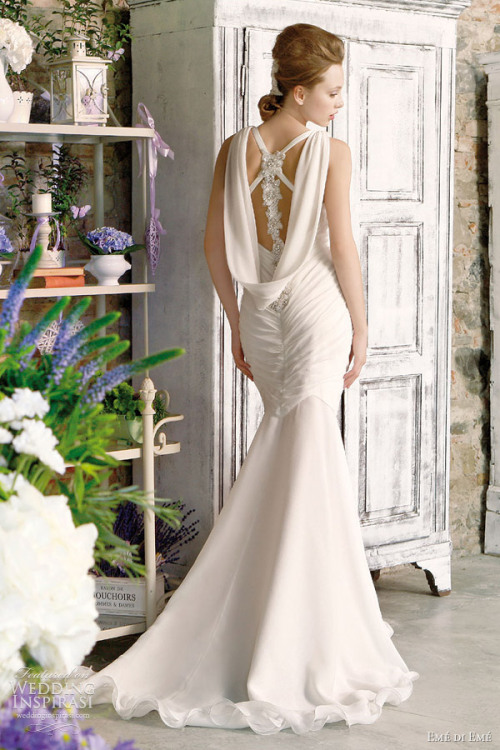awesomeweddingdresses:  http://www.weddinginspirasi.com/2011/12/28/eme-di-eme-bridal-collection-2012/#more-18645