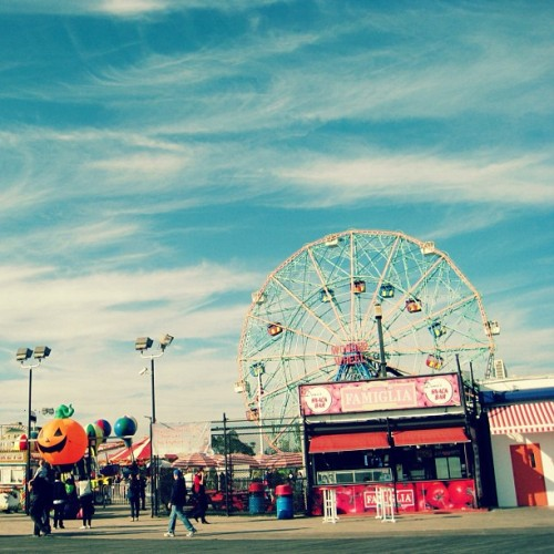 Coney Island in October (Taken with instagram)