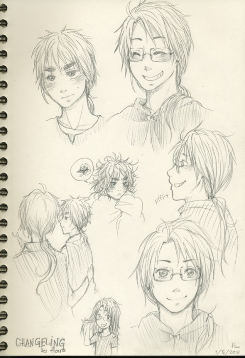 accioharo:  expressionsnatcher:  Askfjdslk some sketches for Haro's amazing fic Changeling, I couldn't get my weird images of America and England with LONG hair out of my head so I decided to draw them, lol, and I CANNOT draw America and make him look like himself with long hair xD;. So weird! But seriously guys, READ THE FIC, it was pure awesome.And I'm sorry I haven't been very active lately ;o; I just came back from the US before Christmas and I've been seriously truly occupied with everything else since that. I promise I'll give you something hopefully better the next time, I actually tried to draw a Happy New Years pic and I did draw it, but since I want to improve my computer coloring skills I began coloring it with Photoshop and there's just something wrong with my program at the moment, it just… completely screws up my computer and makes it slow and tilt all the time, so after starting, closing, starting, force quitting and finally getting it properly started and having colored for few hours it tilted again and I just gave up then. I'll try to get it fixed somehow, but… for the time being I cannot color NOR edit properly with my computer. Meh, sorry!  OKAY SERIOUSLY WHAT YOU'RE AMAZING. Okay firstly AMERICA DOES LOOK LIKE AMERICA WHAT ARE YOU TALKING ABOUT. He's adorable, and you managed to capture him so well with all those totally IC expressions, and omg the little scene where he pats England on the back when they're riding the horses. hgerhgghgh. AND ENGLAND'S BEDHEAD. I was sort of like, considering how hilarious England looked when he tried to grow out his hair as a kid, I bet he'd have really epic bedhead, so YES IT WAS THERE AND YES. He looks so grumpy. shgehghg. And of course America is loling at it because why wouldn't he. ANYWAY EVERYTHING IS CUTE AND FLAWLESS, AND HOW IS YOUR ART SO AMAZING I LOVE IT SO MUCH HEINI. Your style is gorgeous and your shading is and you have so much personality in your characters. I can't wait to see that New Year's pic, but it sucks that your pshop isn't working. I hope it comes around soon. SQUISHING YOU A MILLION TIMES. And like when I was writing the fic I found it really hard to picture as well, and I kept getting mental images that were sort of like they had mullets, which I did not want because America and England should never have mullets lmao. SO YEAH THIS GIVES ME A MENTAL IMAGE THAT IS NOT MULLET-Y, and I highly approve. /weird  FLAWLESS ART FOR A FLAWLESS FIC. SO MUCH LOVEEEE <33333
