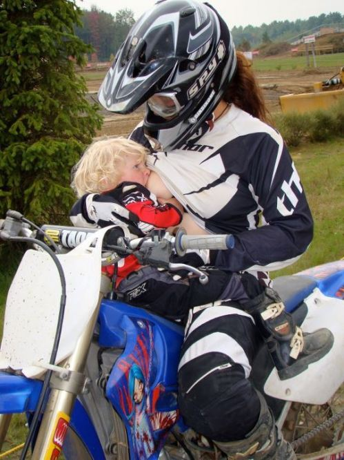 (via Brace yourself concern trolls and misogynist prudes: Motocross! Breastfeeding!)