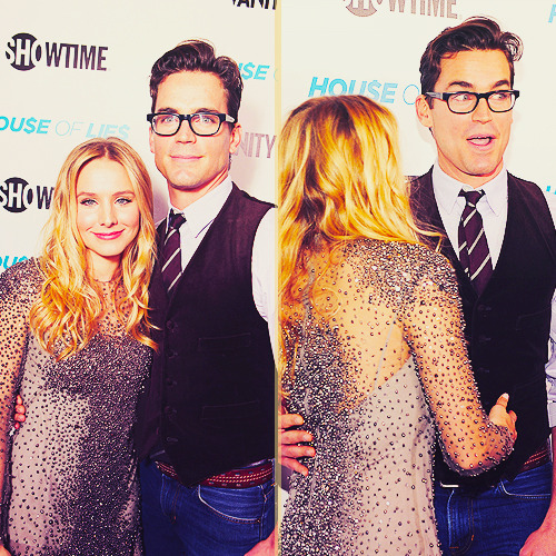thebeautyofsolitude:  ~ Kristen Bell & Matt Bomer  | 'Hou$e of Lie$' private party & Premiere (Jan 4th,2011)