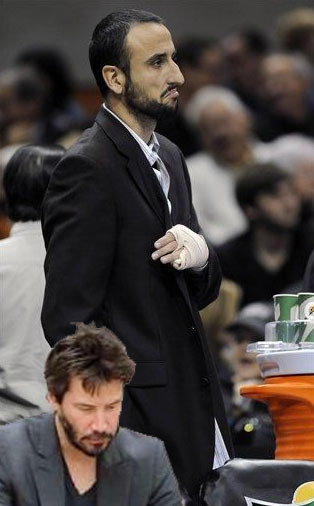 Sad Manu.  docfunk:  Sad Keanu is here for you, dude.