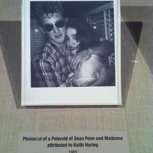 Keith Haring Polaroid of Sean Penn and Madonna at Live Aid - July 13, 1985