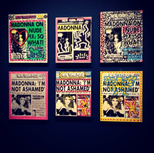 Silkscreens by Andy Warhol and Keith Haring for Madonna and Sean Penn's wedding - 1985.