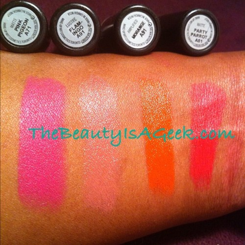 #irisApfel lipstick #swatches on NW43 skin. #maccosmetics  (Taken with instagram)