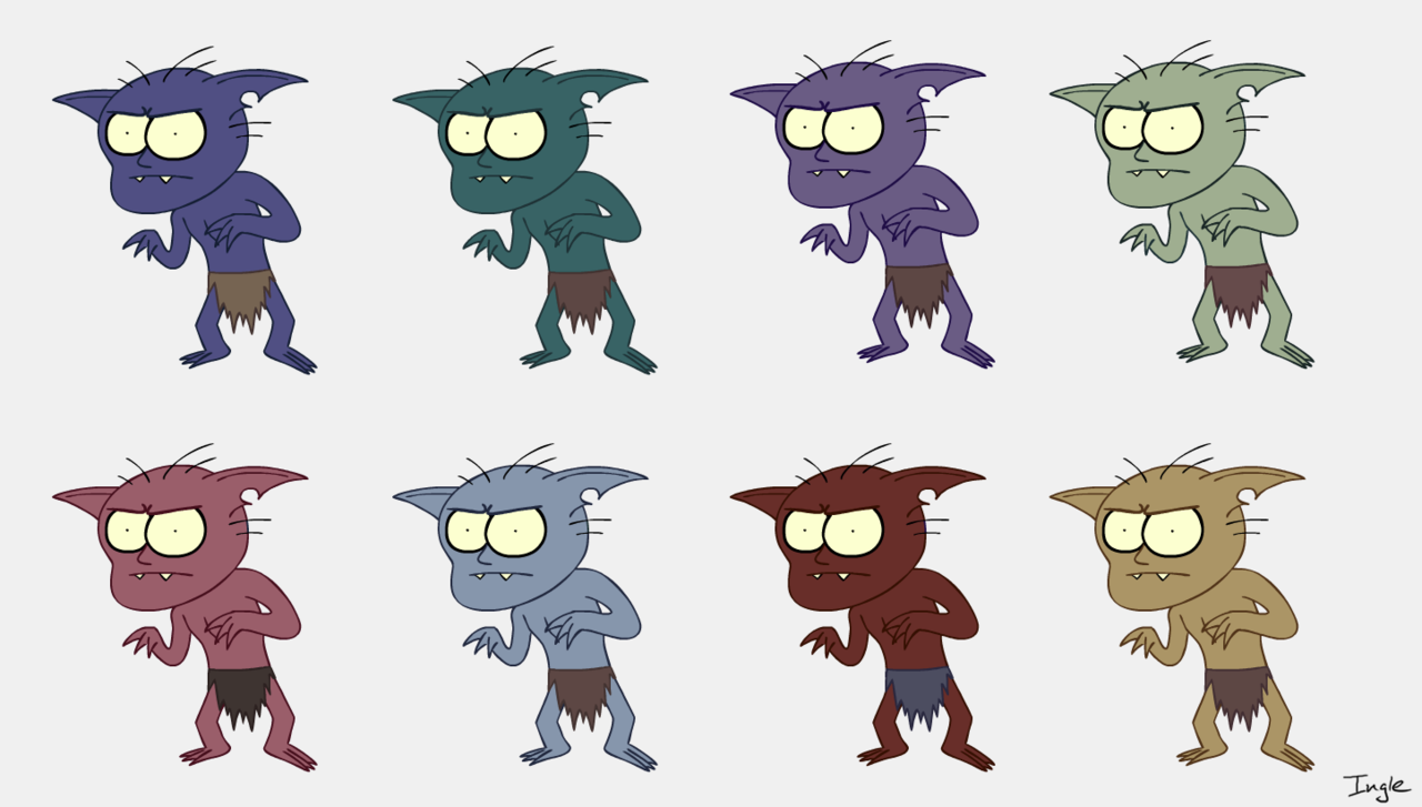Bob Goblin color test for my senior thesis.
