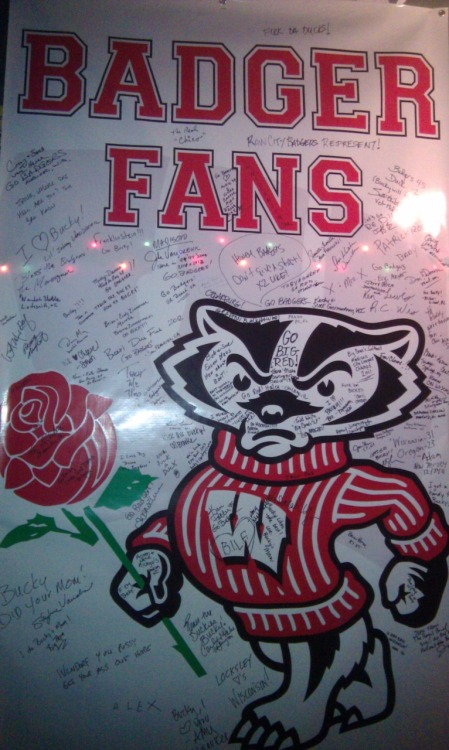 BADGERS. Here are some photos from my fun day at the Rose Bowl in Pasadena on January 2nd.   We lost the game, but the 80F made up for everything. Oh, and plenty of other ridiculousness.