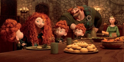 "A new picture of Merida and her family from ""BRAVE""!"