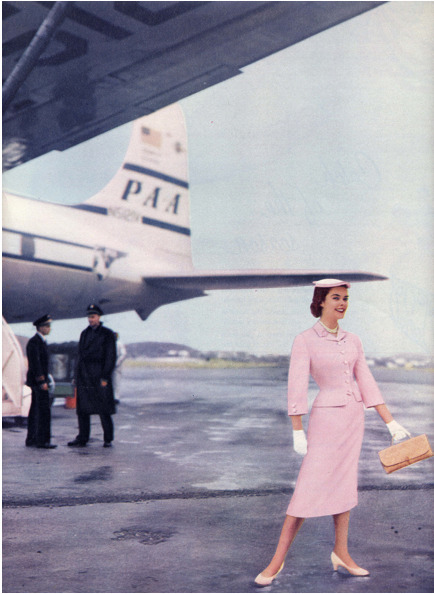 Air travel fashions, 1950s
