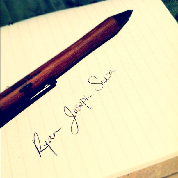 Day One- write your full name. #my #name #myname #handwriting #handwritten #challenge #tumblr #instagram #personal #me #writing #hand #pen #paper #lines #full #name #fullname #ryan #joseph #sousa #rjs (Taken with instagram)