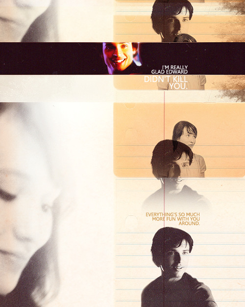 "twilightdreamteam:  ""I'm really glad Edward didn't kill you. Everything's so much more fun with you around."" — Emmett Cullen  For the anon who requested this."
