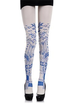 Love. These! Zohara One Way white tights.