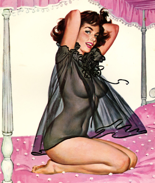 """Lovely Playmate"" by Arthur Sarnoff c. 1950's"