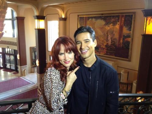 Take a look at this adorable picture of @MarioLopezExtra and @JulietteLewis from today! He also tweeted:  Great interview this morning with @juliettelewis…Love her! So sweet, talented & sexy.. #thefirmnbc