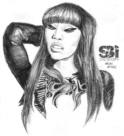 I draw with le pencil sometimes! First up Ms. Minaj.