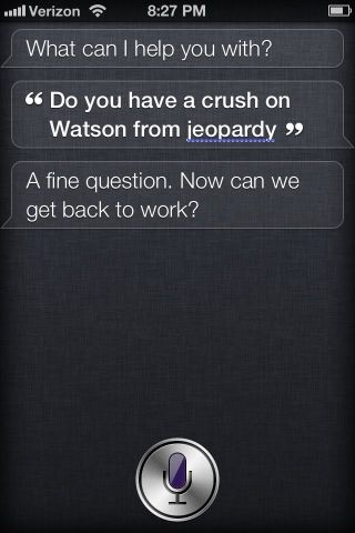 Siri and Watson sittin' in a tree …