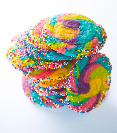 Rainbow pinwheel sugar cookies!