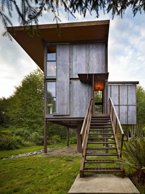 Designed by Olson Kundig Architects located in Olympic Peninsula, Washington.