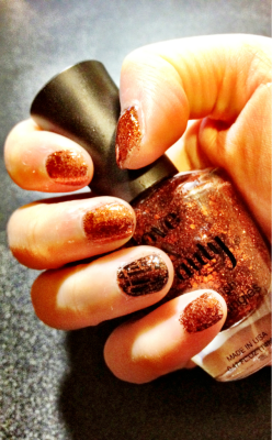Glitter 'n shatter nail polish. Best of both worlds! -B