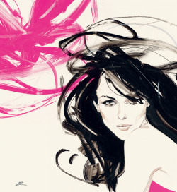 Elizabeth Hurley by David Downton