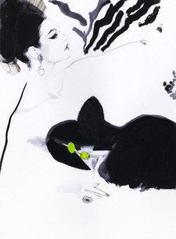 Absolut Downton, Dry Martini by David Downton
