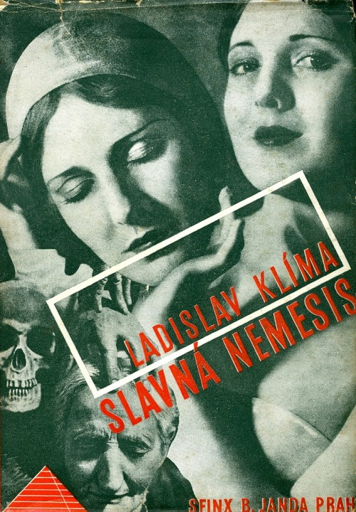 regardintemporel:  Jindrich Styrsky - Book Cover for Slavna Nemesis by Ladislav Klíma, 1932