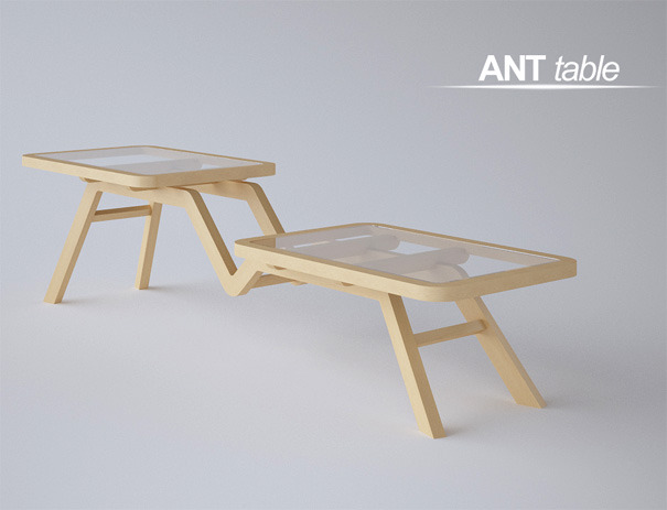 applearts:  Interior design room: Ant Table by Oliver Nikolic