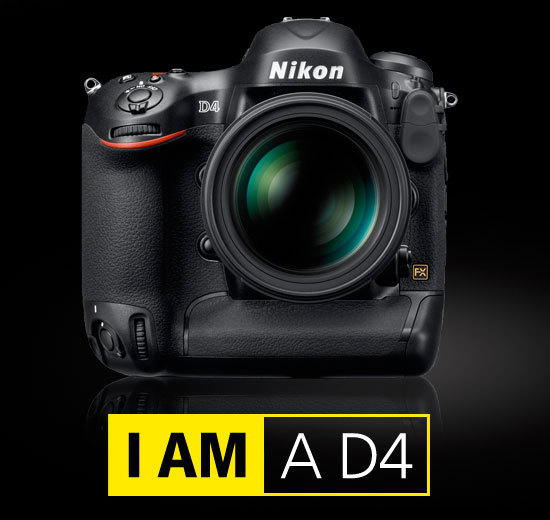 Nikon announces its new flagship camera, the Nikon D4.  Nikon Rumors has superb coverage of the launch with links to the lots of sites posting information this morning. Of particular interest, is Joe McNally's experiences with the camera. (via The official announcement: Nikon D4, AF-S Nikkor 85mm f/1.8G lens, Wireless Transmitter WT-5 | Nikon Rumors)