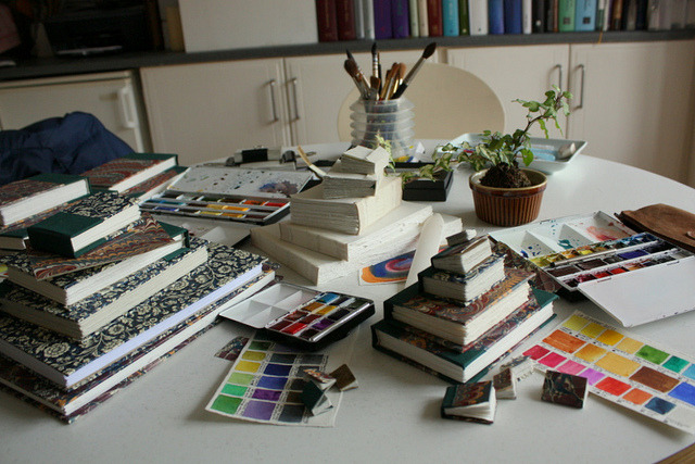 My Working  Table by noriko.stardust on Flickr.